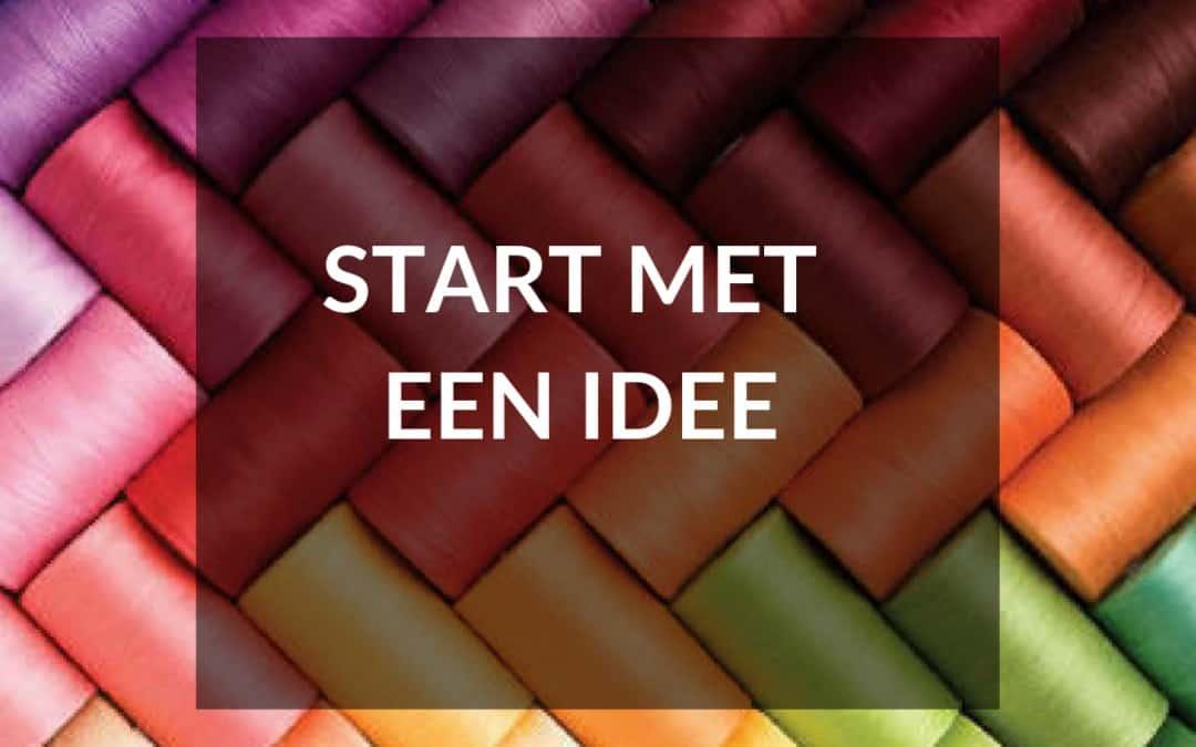 Start met een goed idee