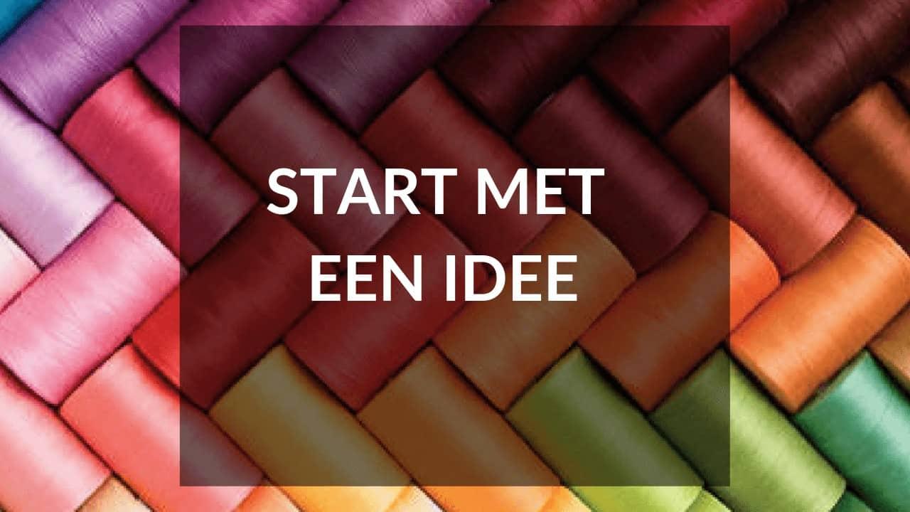 Start je eigen kledinglijn - tip 1 - Start met een idee
